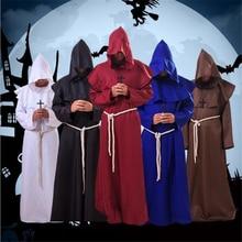 Ataullah/плащ для мужчин и женщин на Хеллоуин, костюм ведьмы, карнавальный костюм, вечерние карнавальные костюмы вампира-призрака DW002