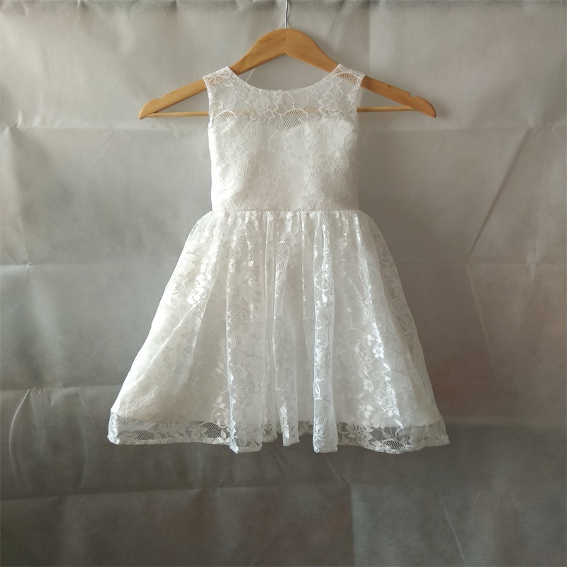New Lace Flower Girl Dresses for Wedding Keyhole Little Girls Kids/Children Dress Birthday Ball Party Pageant Communion Dresses