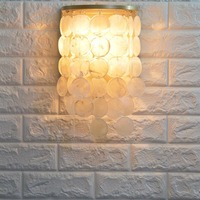Modern Nordic Natural Shell Wall Lamp Bedroom Bedside Lamp Bedside Lamp Bar Bar Corridor Decorative Wall Sconce Light Fixture