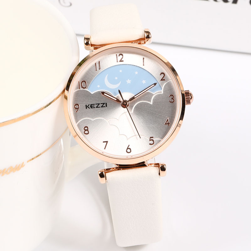 KEZZI Brand Small Fresh Women's Watch Women Starry Sky Creative Design Fashion Ladies Watches Top Luxury Girls Birthday Gifts