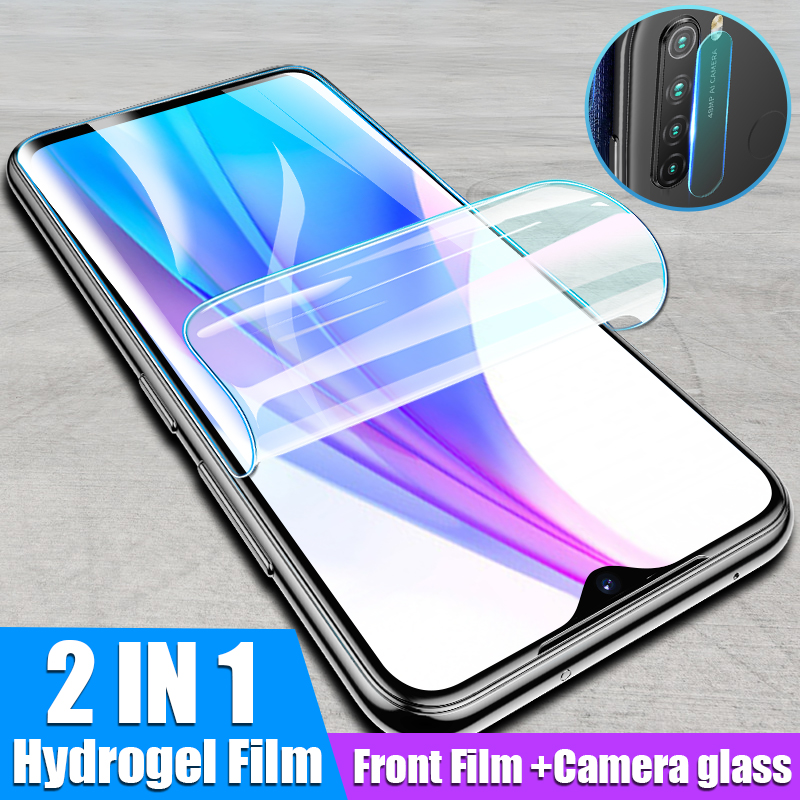 900D 2in1 Camera Lens Glass For Redmi Note 8 7 5 Pro Front Screen Protector Soft Hydrogel Film For Xiaomi Redmi 7 8 8t 4x Glass