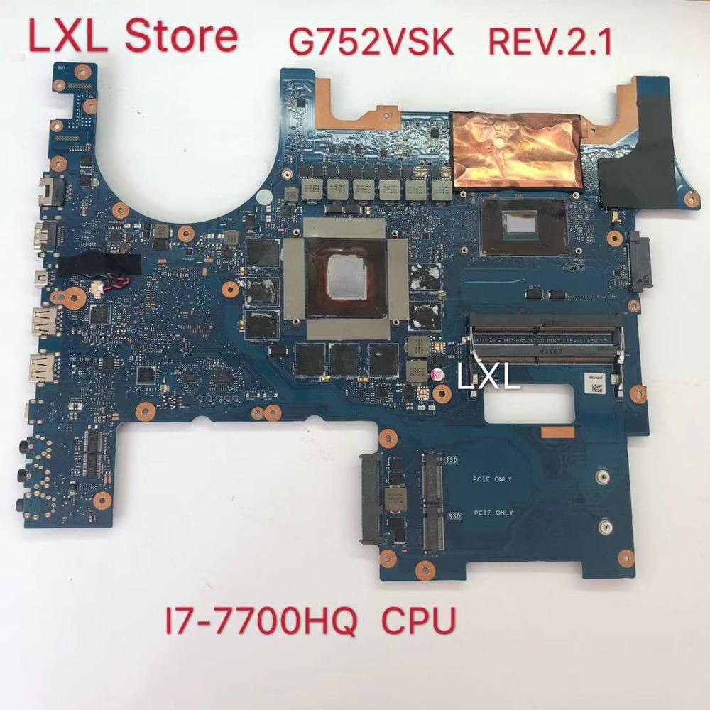 G752VSK REV.2.1 GTX1070 <font><b>I7</b></font>-<font><b>7700</b></font> CPU motherboard for ASUS G752 G752V G752VS G752VS G752VSK Laptop motherboard 100% Tests ok image