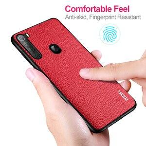 Image 5 - Cho Red Mi Note 8 T Ốp Lưng Tiểu Mi Mi Note8T Hiệu MOFI Ốp Lưng Silicone Chống Sốc Note8 T kính Capa Da PU Coque