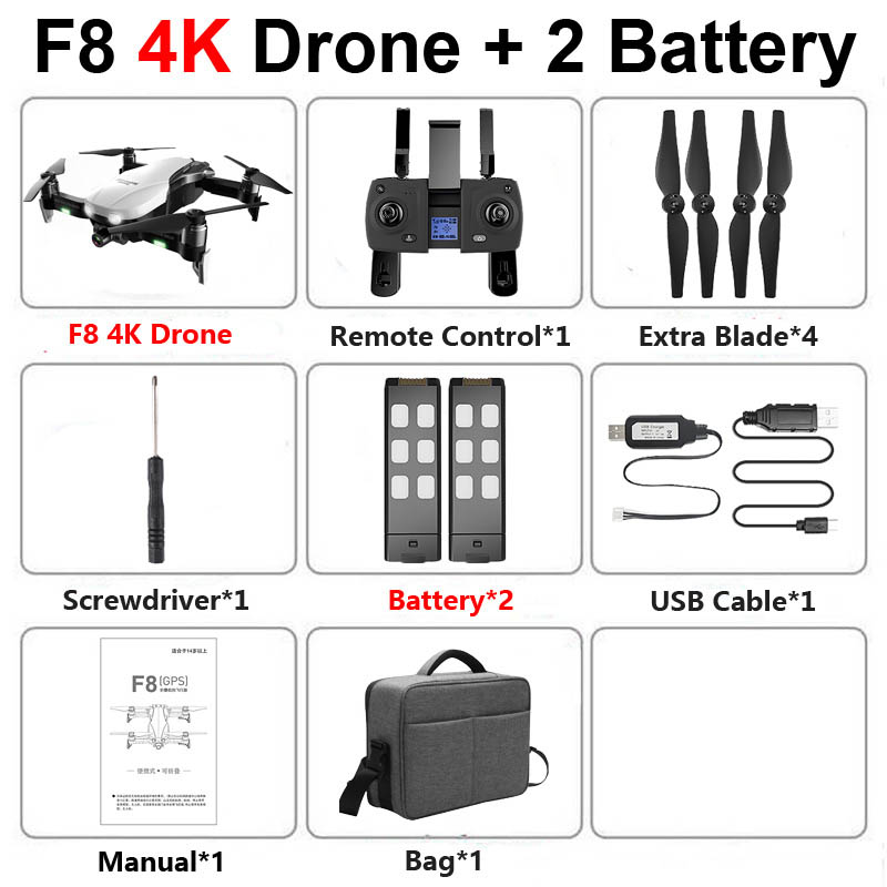 F8 GPS Profissional Drone with Camera 4K HD Two-Axis Anti-Shake Self-Stabilizing Gimbal 5G WiFi FPV RC Quadcopter Helicopter Toy
