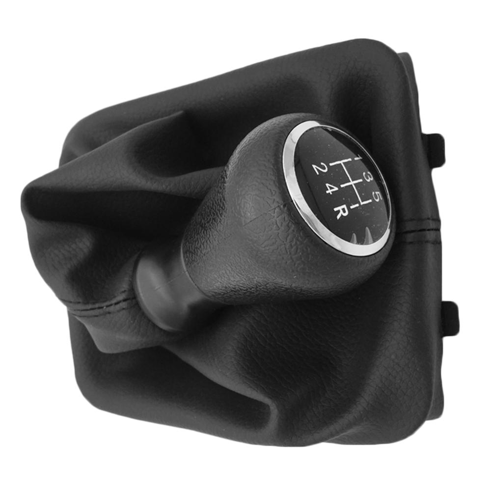 5 Speed Gear Shift Knob with Collars Gear Shift Lever Dust Anti-dust Cover For Peugeot 206 406