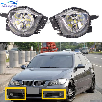 Front Bumper LED Car Light Fog Light Fog Lamp With LED Bulbs For BMW E90 E91 2005 2006 2007 2008 Car-styling image