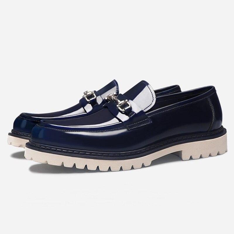 qualidade homens solas grossas deslizamento em sapatos