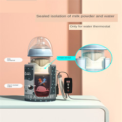 Usb isolamento garrafa de bebê aquecedor de vidro larga boca ppsu gota resistente temperatura constante rápido nivelado leite bonito água térmica