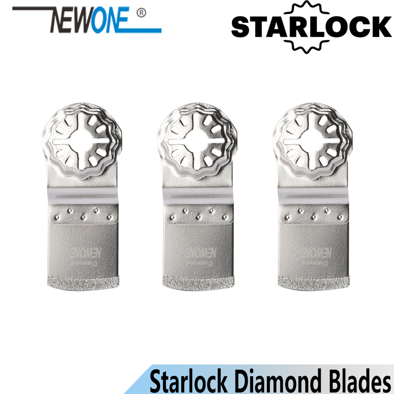 NEWONE Starlock Diamond Coated E-shape Oscillating Tools Saw Blades Multi-tool Saw Blades For Tile Concrete