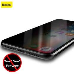 Baseus Anti Peeping osłona ze szkła hartowanego dla iPhone X 0.3mm Ultra cienka anty szpieg szkło hartowane dla iPhone X 10 szkło hartowane|glass film|anti spy tempered glasstempered glass -