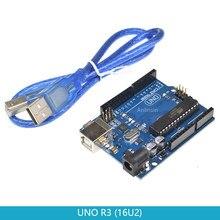 UNO R3 макетная плата ATmega328P-PU ATMEGA16U2 MEGA16U2 16U2 для Arduino UNO R3 с кабелем mega328p