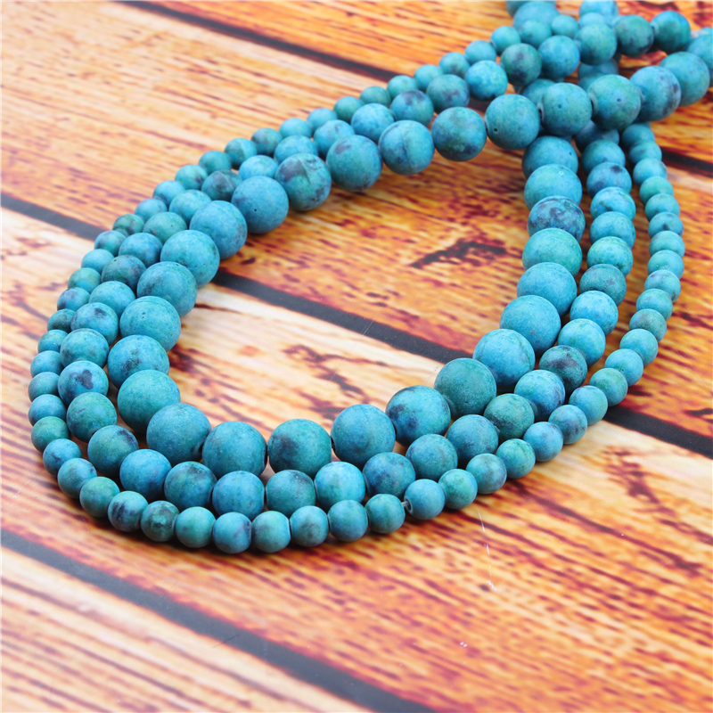 Emperor Stone Natural Stone Bead Round Loose Spaced Beads 15 Inch Strand 4/6/8/10/12mm For Jewelry Making DIY Bracelet