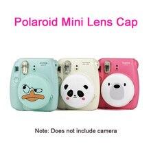 Adecuado para Polaroid Instax cámara Fujifilm Cute Lens Cover Mini 8 / 9 Lovely Silicone Lens Protector accesorios con cordón