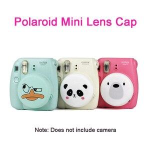 Image 1 - Convient pour Polaroid Instax Fujifilm caméra couverture dobjectif mignon Mini 8/9 beaux accessoires de protection dobjectif en Silicone avec lanière