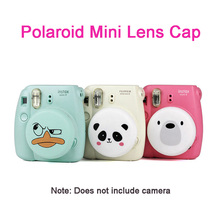 Suitable for Polaroid Instax Fujifilm Camera Cute Lens Cover Mini 8 / 9 Lovely Silicone Lens Protector Accessories with Lanyard