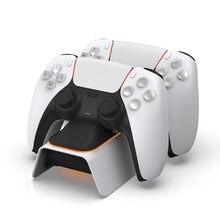 Estación de carga Dual para mando de juego, mando inalámbrico para Sony Playstation 5 PS5, Joystick, base de alimentación para mandos de doble sentido
