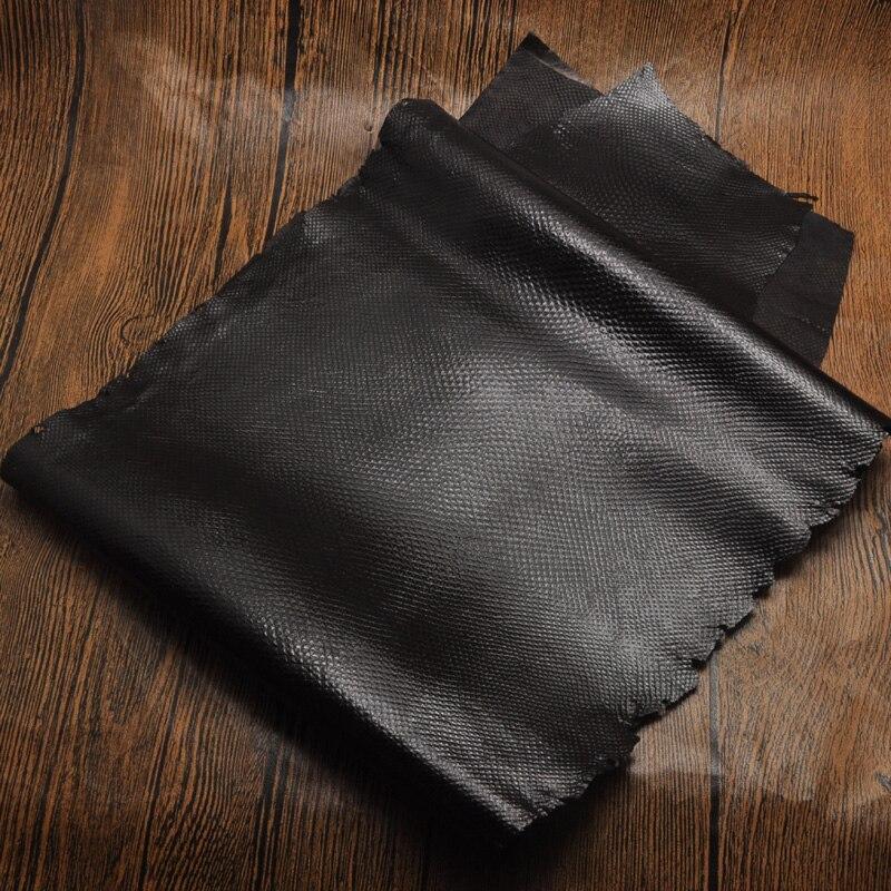 Grande taille noir huile cire grain véritable sable peau de serpent nature cuir pièce entière artisanat matériel pour portefeuille sac à main bricolage