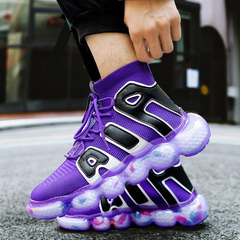 Кроссовки мужские сетчатые, Повседневная Уличная обувь, разноцветные, на платформе, Модные осенние