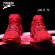 Damyuan – baskets à coussin en maille pour homme, chaussures de course, de sport, légères, 48, grande taille