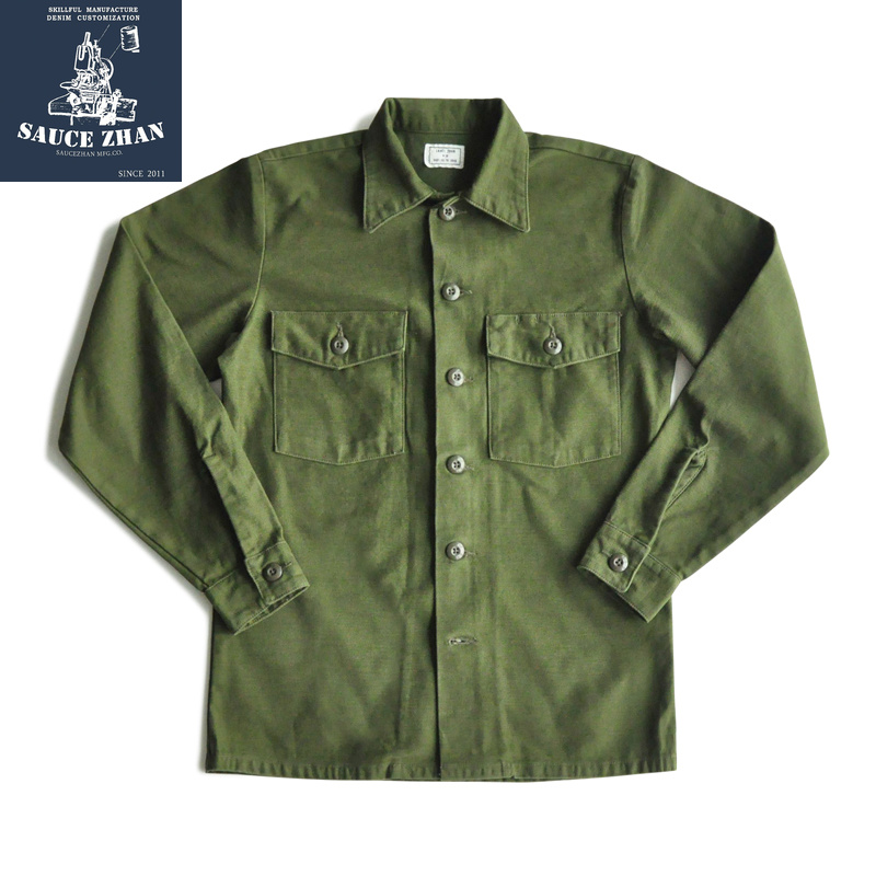 Bob Dong 1930s Selvedge Work Shirt Vintage Men/'s Pocket Jean Denim Casual Shirts