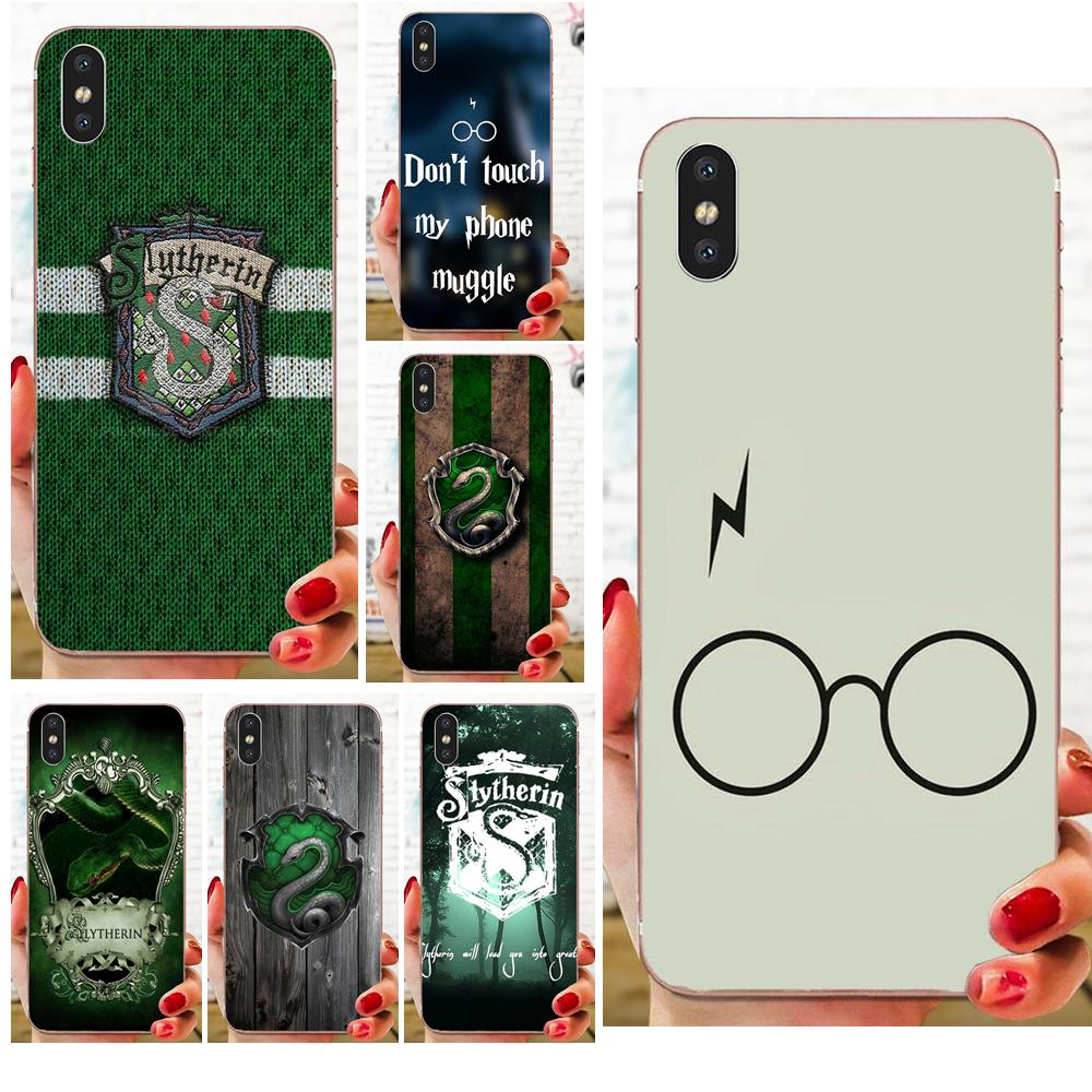 Soft Cellphone Transparent Slytherin School For Samsung Galaxy A51 A71 A81 A90 5G A91 A01 S11 S11E S20 Plus Ultra image