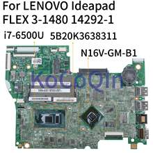 KoCoQin carte mère d'ordinateur portable pour LENOVO Ideapad FLEX 3-1480 Yoga 500-14ISK I7-6500U carte mère 14292-1 5B20K36383 SR2EZ N16V-GM-B1(China)