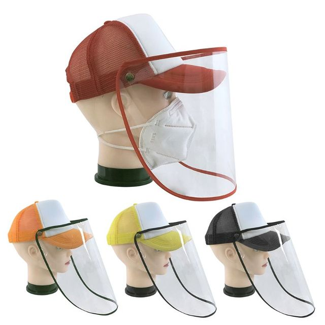 Protective Mask Anti-saliva Dust-proof Hat Safety Transparent Protective Mask Plastic Anti-fog Saliva Hats Face Shields 5