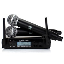 Professionelle UHF Wireless Mikrofon System Dual Channel Digital-Receiver Mit 2 Cordless Handheld Karaoke Mic SM58LC SM 58 58LC(China)