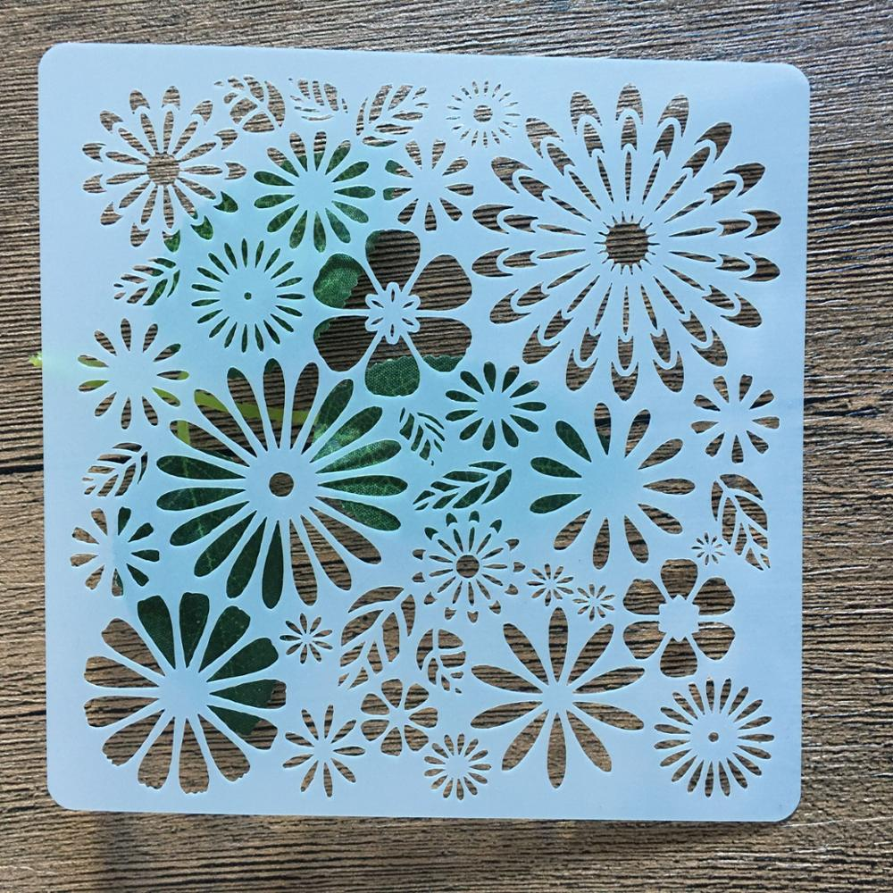 13cm Flower  Round DIY Stencils Painting Scrapbook Coloring Embossing Album Decorative Paper