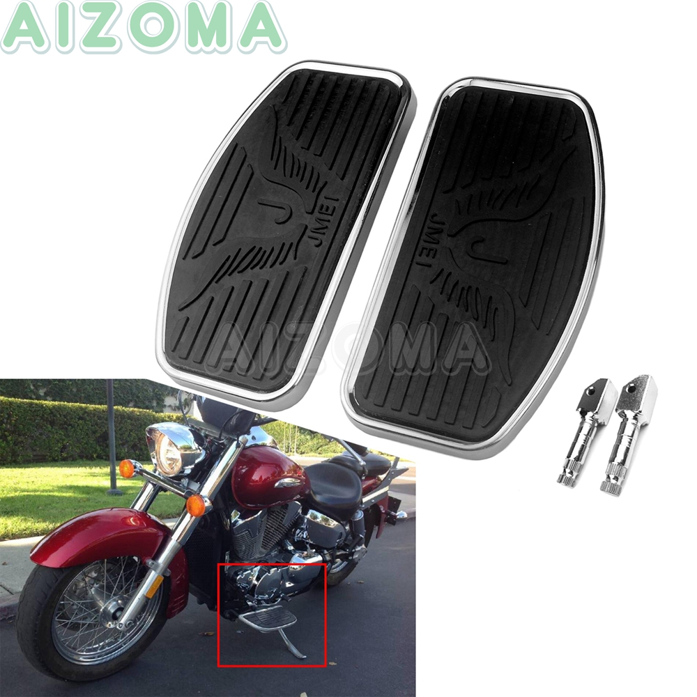 Motorcycle Front Rider Floorboards Foot Pegs  For Harley Dyna Touring  Driver Footboards Pedal For KAWASAKI Honda Shadow ACE 750