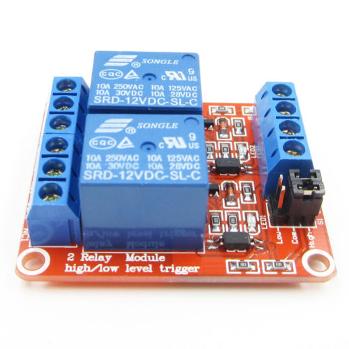 1pcs 2Channel 12V Relay Module Board Shield for Arduino with Optocoupler Support High and Low Level Trigger