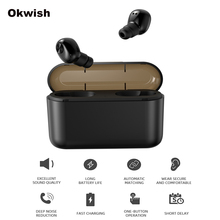 TWS Bluetooth Earphone Invisible Wireless Earbuds Mini Wireless Earphones Stereo Bluetooth Headphones with 2200mAh Charging Box samload bluetooth earphone eb10 tws true wireless earbuds bluetooth 4 0 stereo earphones with charger box portable