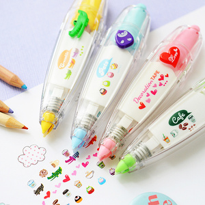 Funny Tape Pen Cute Cartoon Floral Sticker Kids Stationery Notebook Diary Decoration Tapes Label Sticker Paper for Children Toy