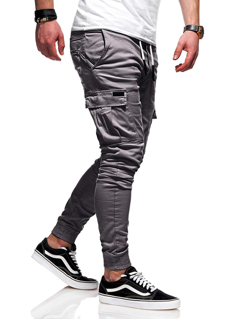 Autumn Men Joggers Pants 2020 New Casual Male Cargo Military Sweatpants Solid Multi-pocket Hip Hop Fitness Trousers Sportswear 25