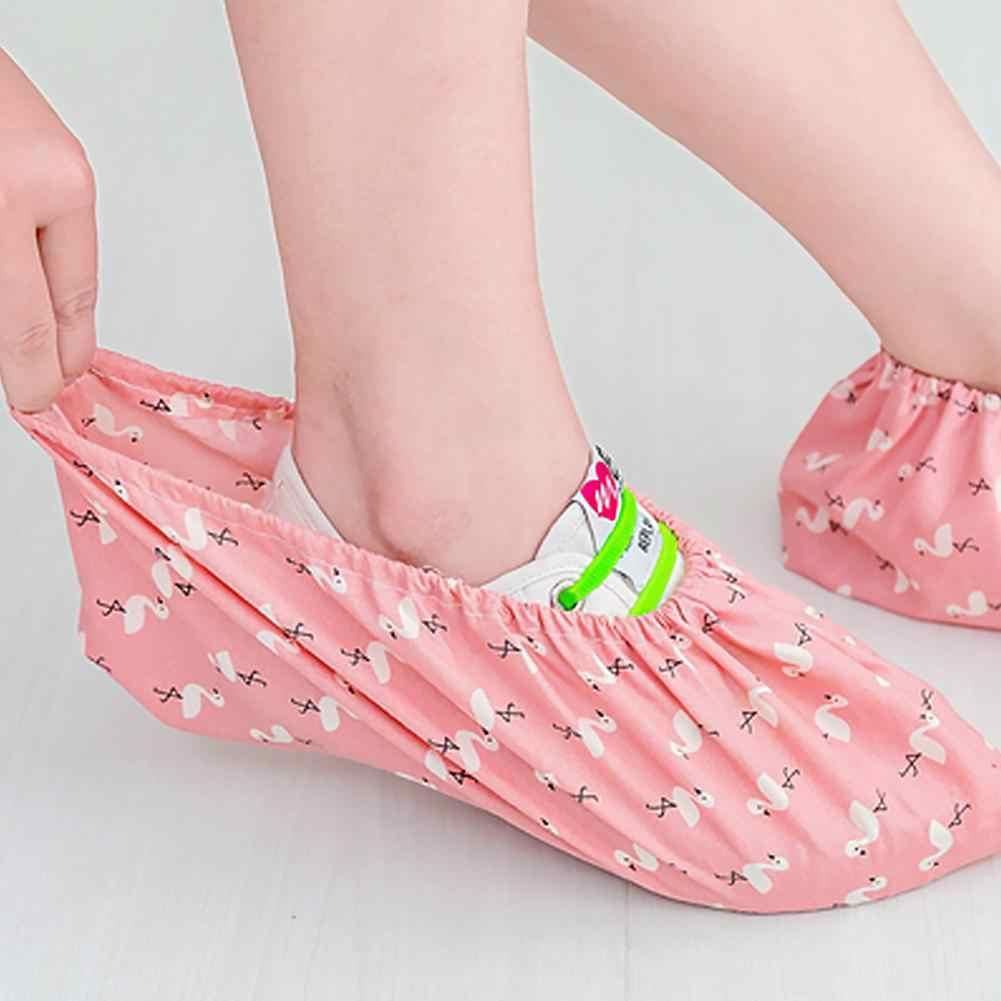 Antideslizante lavable reutilizable cubiertas del zapato de lluvia impermeable zapatos cubre antideslizante lluvia engrosada de chanclos