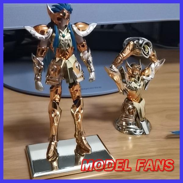 Figurine d'action en tissu pour FANS, jouet, mini, 100mm, EX, or, saint verseau, Camus, avec objet, armure métallique, en STOCK