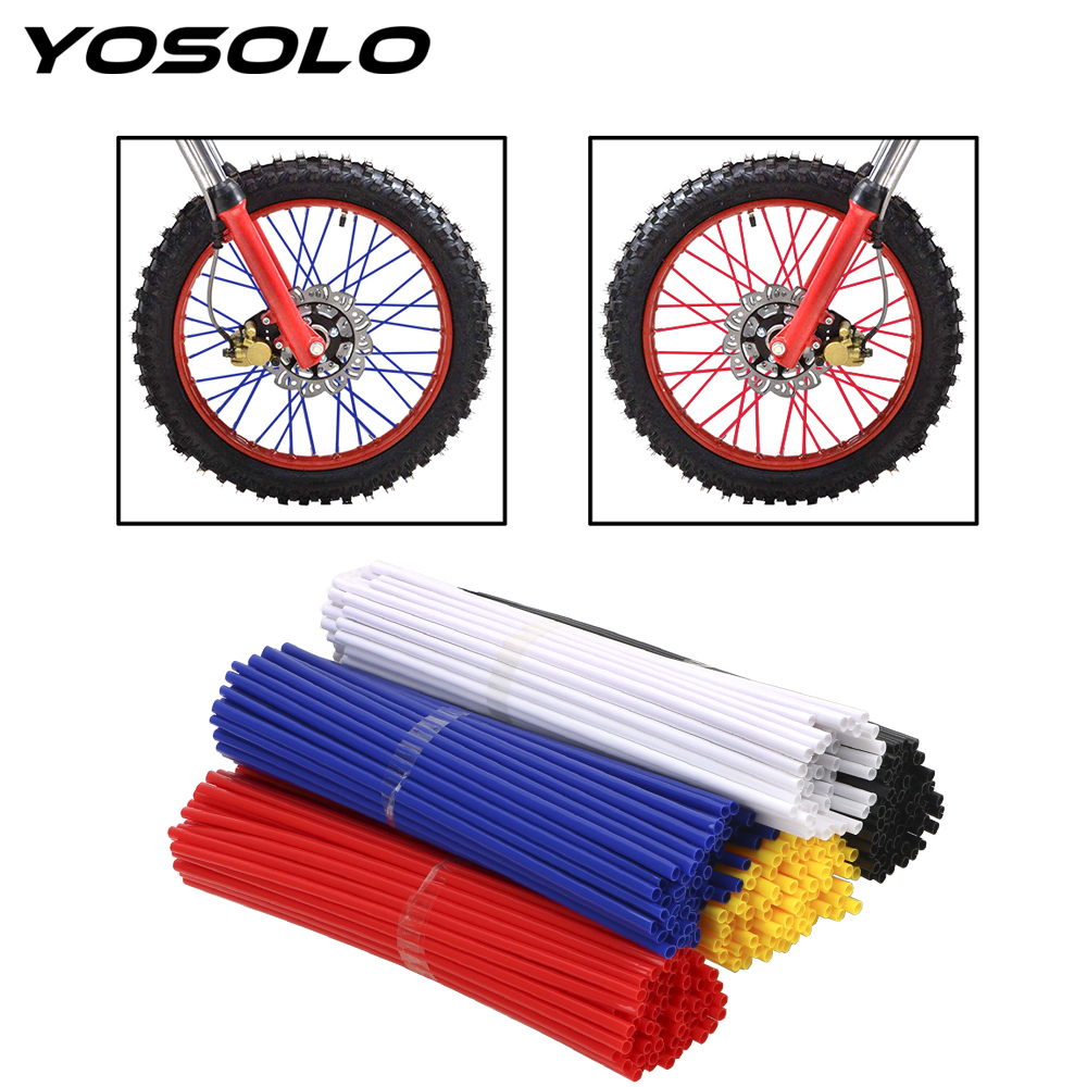 72pcs/set for Motorcycle Bike Motorbike Bicycle Accessories Off Road Shrouds Covers Wheel Rim Spokes Skins image