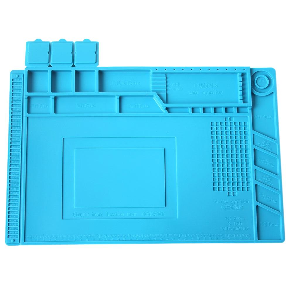 S-150 Maintenance Platform Heat-Resistant Repair Insulation Pad Silicone Mats with Screws Position Repairs Tools Repairs Kits