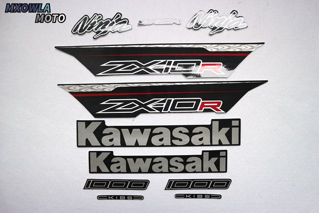 $ 36.69 Motorcycle For Kawasaki NinjaZX10R 2011-2012-2013 Ninja ZX10R 11-12-13 Full Kit Sticker High Quality Decal