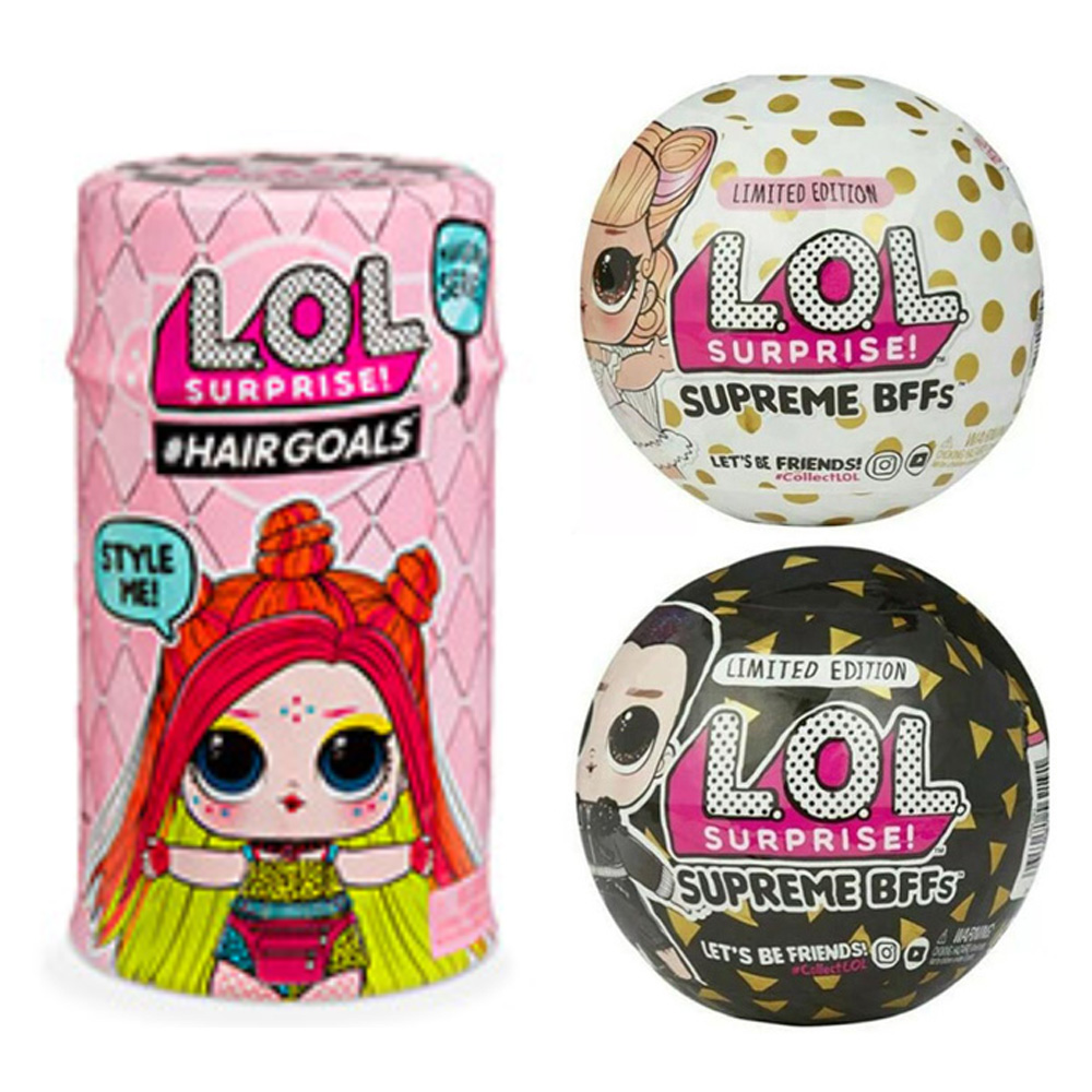 2019 New Big Glitter Unpacking  LOLS Dolls LOL Figures Action Toys Anime Educational Novelty For Kid's Birthday Christmas Gift