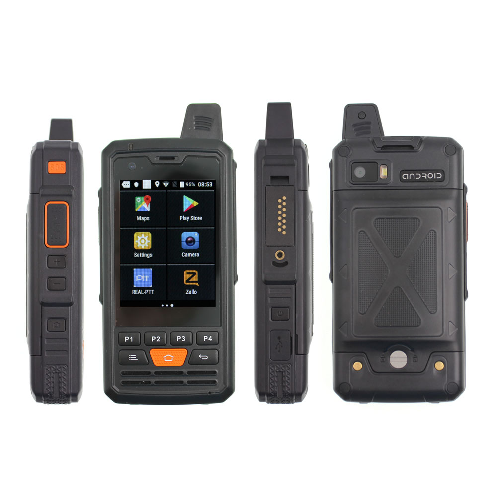 4G-P3 F50 LTE Mobile Phone Mtk6737 Quad Core Zello Android 6.0 Walkie Talkie PTT Smartphone 1G RAM 8G ROM 4000mAh Battery