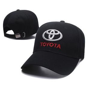 Image 1 - 2019 czapka z daszkiem sport samochód wyścigowy męskie okulary Moto GP samochód Toyota Motocross czapki czapka wyścigi F1 motocykl 3D Embroide