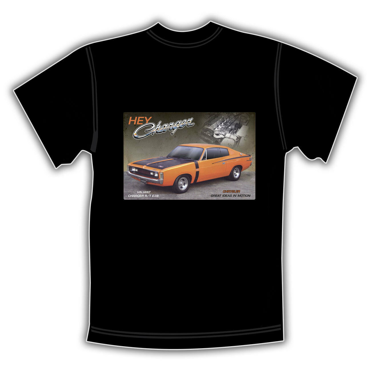 Chrysler Valiant Charger R/T E38 T Shirt Hey <font><b>Ladeger</b></font>ät Unisex Größe: s-3Xl Mode 2019 Top T Mens top t image