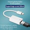 Адаптер OTG USB для камеры lightning USB кабель наушники конвертер Электрический пианино MIDI клавиатура для iphone 7 8 ios 13 адаптер