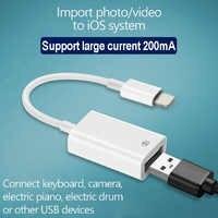 OTG USB vers caméra adaptateur pour lightning USB câble écouteurs convertisseur électrique piano MIDI clavier pour iphone 7 8 ios 13 adaptateur