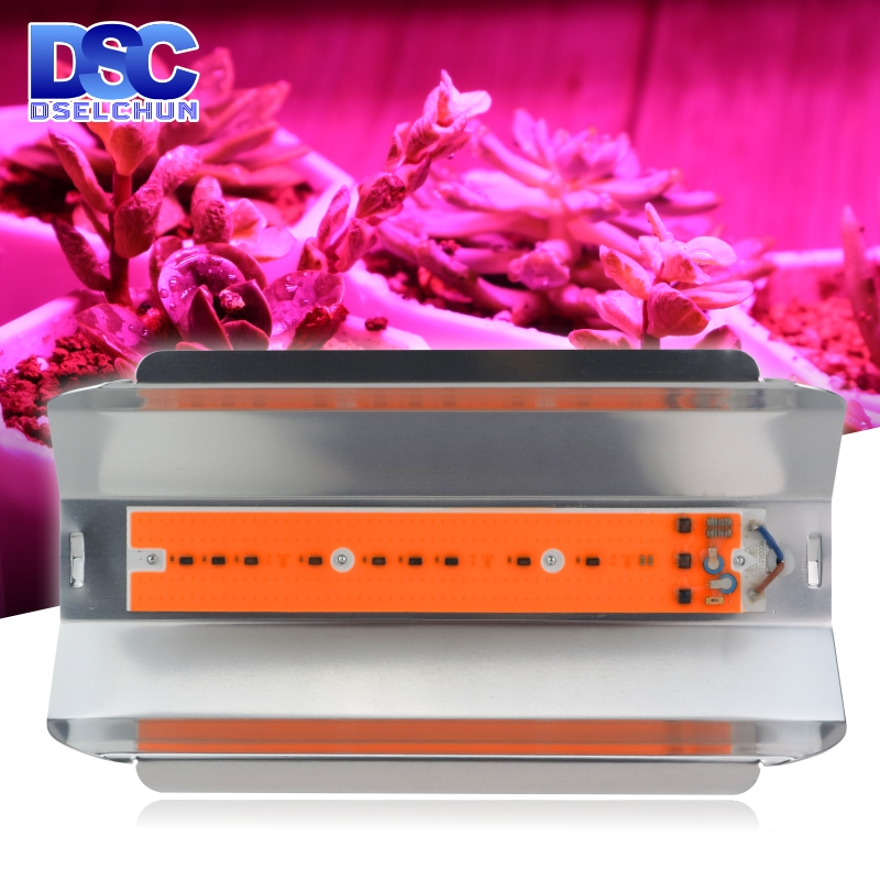 30W 50W 80W LED Grow Light  AC 110V 220V Growth Flood Light Full Spectrum Indoor Plant Light Greenhouse Cob Floodlight
