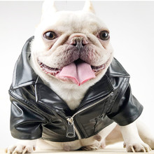 Dog Winter Coat Pu Leather Motorcycle Jacket for Pet Clothes Jacket, Waterproof