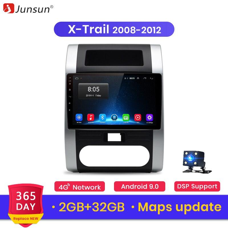 Junsun V1 2G+32G Android Car Radio Video Player Navigation GPS For Nissan X Trail T31 2007-2013 Qashqai 2 Din Car Radio Android