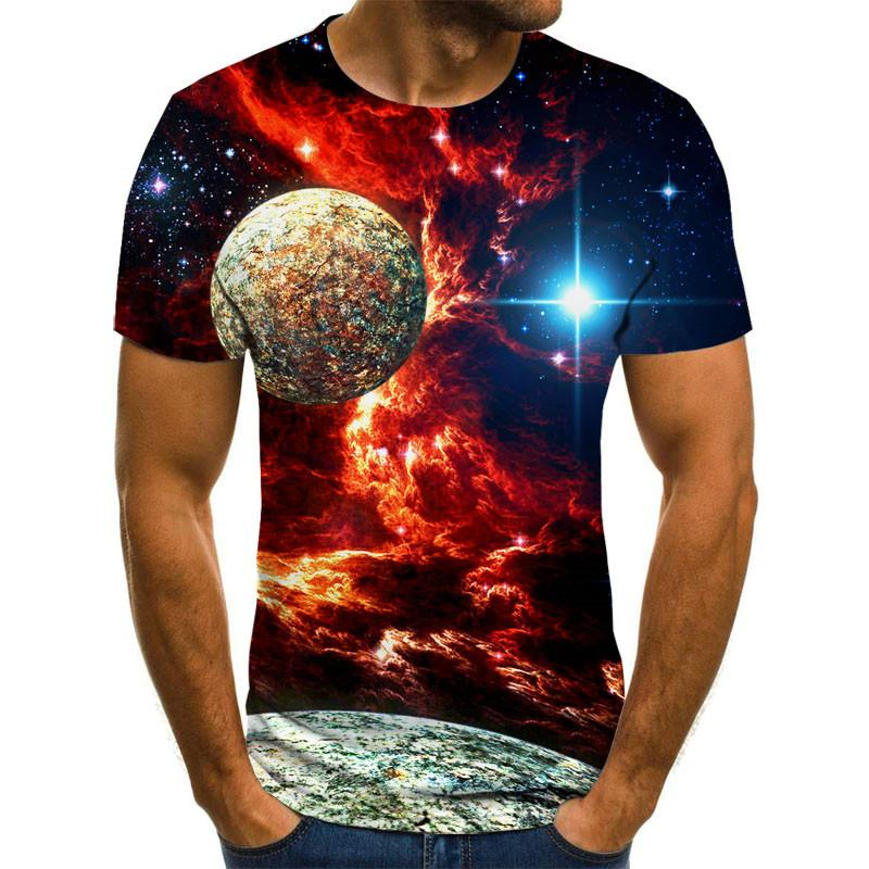 2020 New Starry Sky 3d Printed T Shirt Men Summer Casual Man's T-shirt Tops Tees Funny Tshirt Streetwear Male Size XXS-6XL