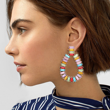 HOCOLE Fashion Geometric Crystal Earrings For Women Vintage Big Oval Round Gold Drop Dangle Earring Statement Za 2019 Jewelry